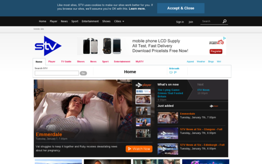 Access stv.tv using Hola Unblocker web proxy