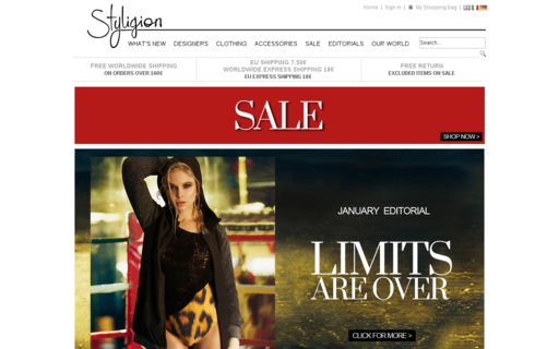 Access styligion.com using Hola Unblocker web proxy
