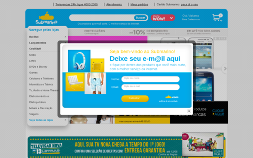 Access submarino.com.br using Hola Unblocker web proxy