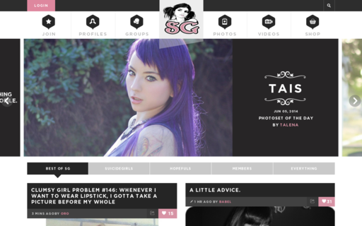 Access suicidegirls.com using Hola Unblocker web proxy