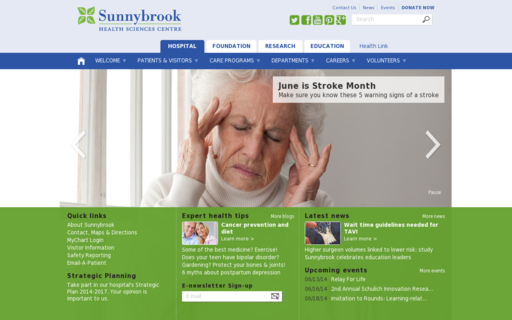 Access sunnybrook.ca using Hola Unblocker web proxy