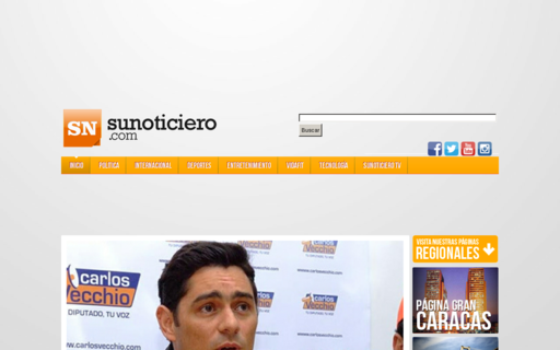 Access sunoticiero.com using Hola Unblocker web proxy