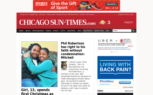 Access suntimes.com using Hola Unblocker web proxy