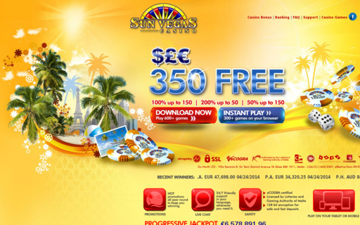 Access sunvegascasino.com using Hola Unblocker web proxy