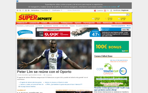Access superdeporte.es using Hola Unblocker web proxy