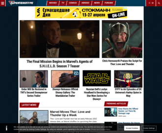 Access superherohype.com using Hola Unblocker web proxy