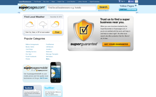 Access superpages.com using Hola Unblocker web proxy