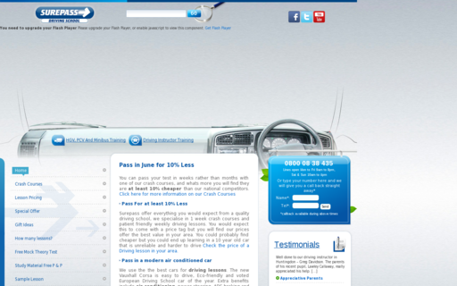 Access surepassdrivingschool.com using Hola Unblocker web proxy