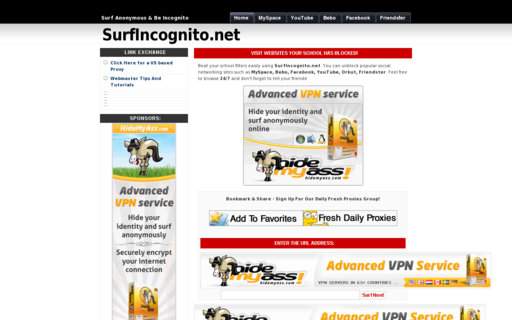 Access surfincognito.net using Hola Unblocker web proxy