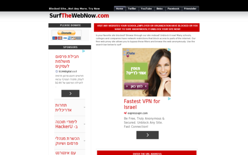 Access surfthewebnow.com using Hola Unblocker web proxy