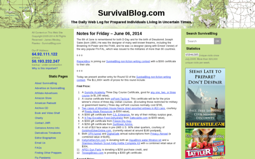 Access survivalblog.com using Hola Unblocker web proxy