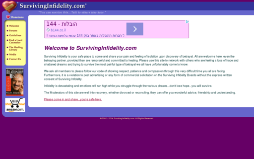 Access survivinginfidelity.com using Hola Unblocker web proxy