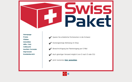 Access swiss-paket.de using Hola Unblocker web proxy