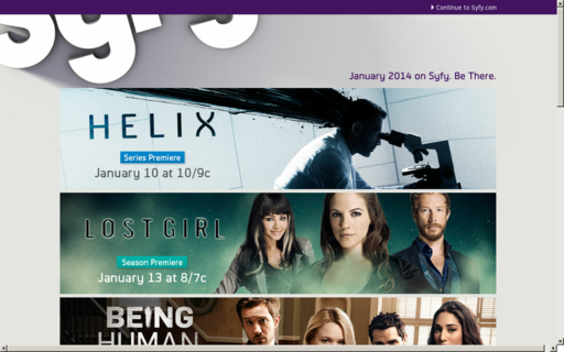 Access syfy.com using Hola Unblocker web proxy