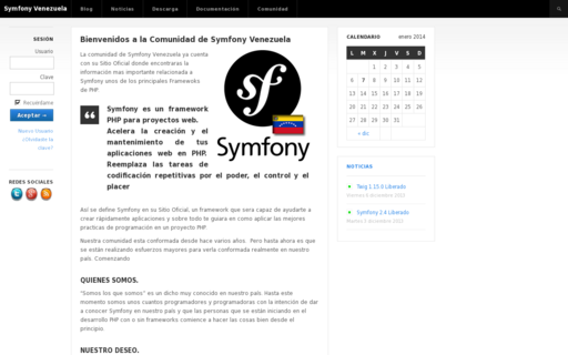 Access symfony-project.com.ve using Hola Unblocker web proxy