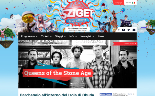 Access szigetfestival.it using Hola Unblocker web proxy