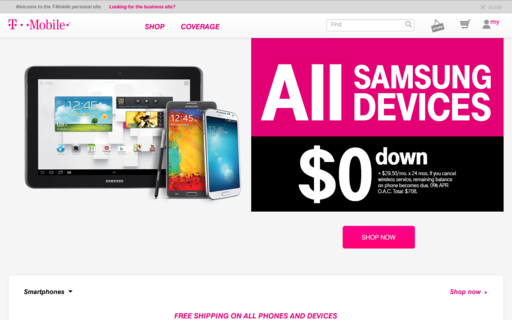 Access t-mobile.com using Hola Unblocker web proxy