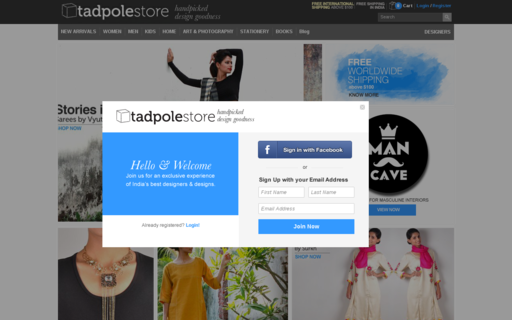 Access tadpolestore.com using Hola Unblocker web proxy