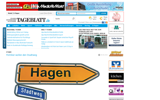 Access tageblatt.de using Hola Unblocker web proxy