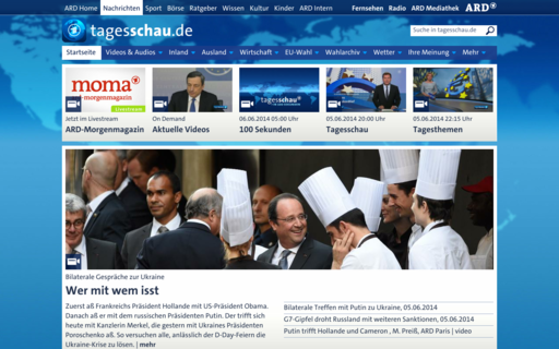Access tagesschau.de using Hola Unblocker web proxy