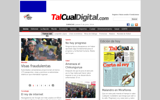 Access talcualdigital.com using Hola Unblocker web proxy