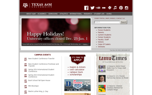 Access tamu.edu using Hola Unblocker web proxy