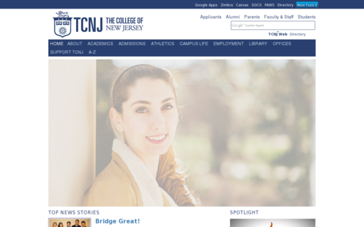 Access tcnj.edu using Hola Unblocker web proxy