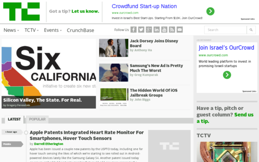 Access techcrunch.com using Hola Unblocker web proxy