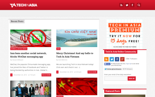 Access techinasia.org using Hola Unblocker web proxy
