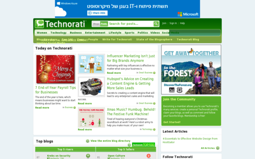 Access technorati.com using Hola Unblocker web proxy