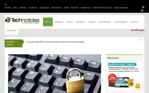 Access technoticias.es using Hola Unblocker web proxy