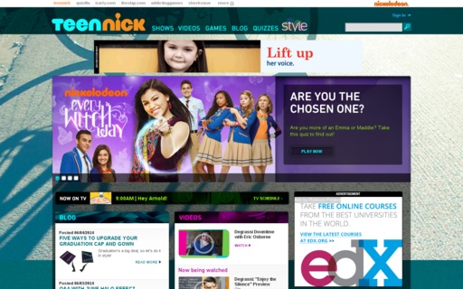 Access teennick.com using Hola Unblocker web proxy