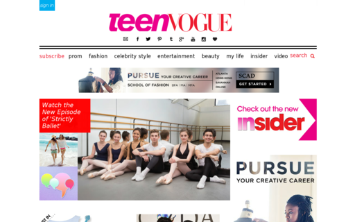 Access teenvogue.com using Hola Unblocker web proxy