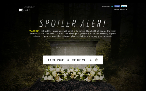 Access teenwolfmemorial.com using Hola Unblocker web proxy