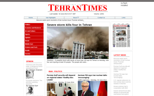 Access tehrantimes.com using Hola Unblocker web proxy