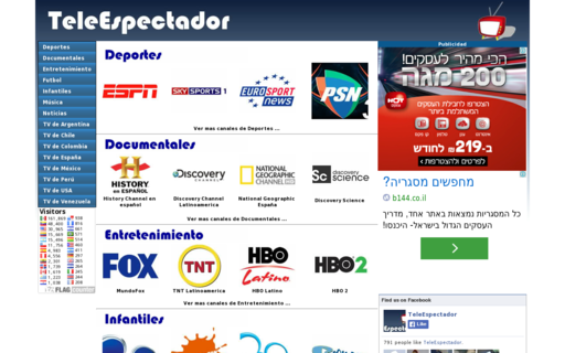 Access teleespectador.com using Hola Unblocker web proxy