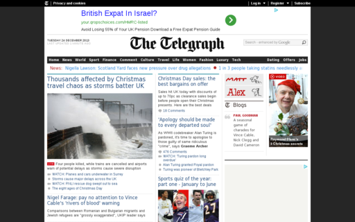 Access telegraph.co.uk using Hola Unblocker web proxy