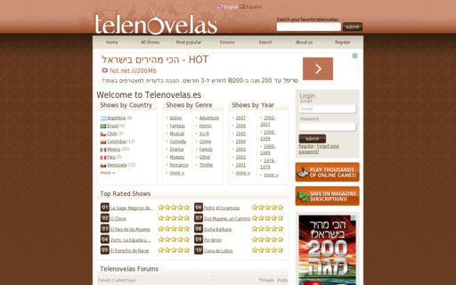 Access telenovelas.es using Hola Unblocker web proxy