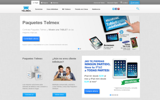 Access telmex.com using Hola Unblocker web proxy