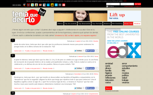 Access teniaquedecirlo.com using Hola Unblocker web proxy
