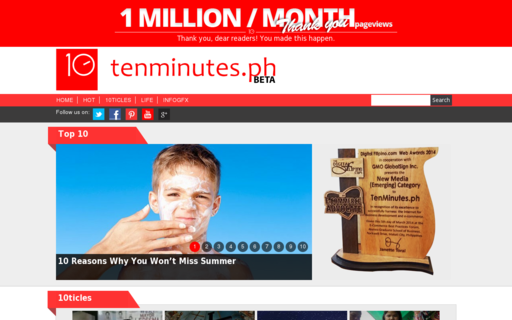 Access tenminutes.ph using Hola Unblocker web proxy