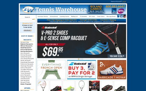 Access tennis-warehouse.com using Hola Unblocker web proxy