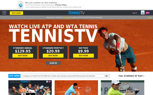 Access tennistv.com using Hola Unblocker web proxy