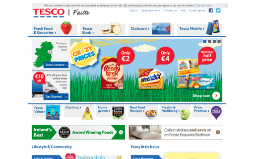 Access tesco.ie using Hola Unblocker web proxy