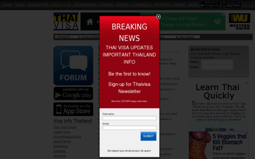 Access thaivisa.com using Hola Unblocker web proxy