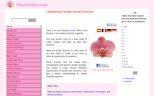 Access the-clitoris.com using Hola Unblocker web proxy