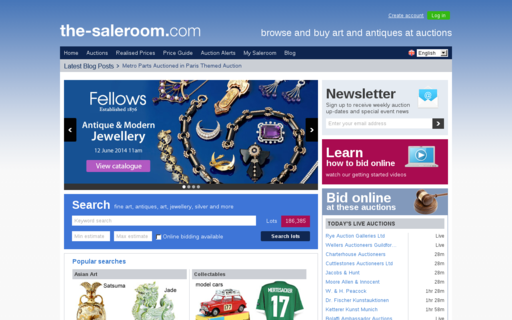 Access the-saleroom.com using Hola Unblocker web proxy