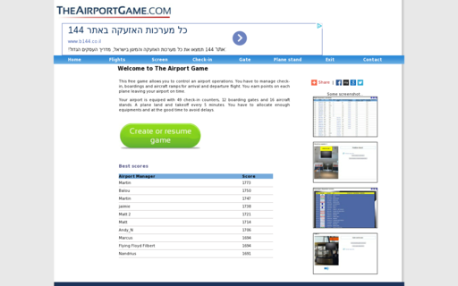 Access theairportgame.com using Hola Unblocker web proxy