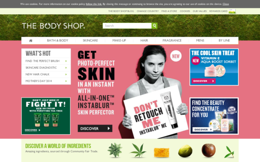 Access thebodyshop.com using Hola Unblocker web proxy