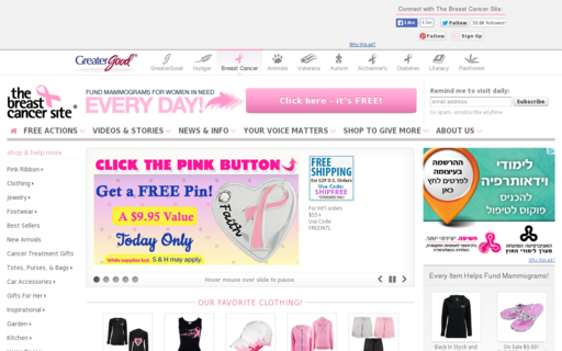 Access thebreastcancersite.com using Hola Unblocker web proxy